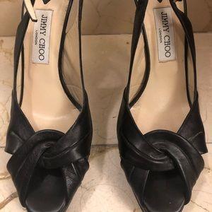 Jimmy Choo Platform Leather Heels